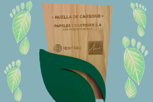 BECAUSE WE CARRY ABOUT THE CARBON FOOTPRINT WE GENERATE:  ICONTEC RECOGNIZES TO PAPELSA