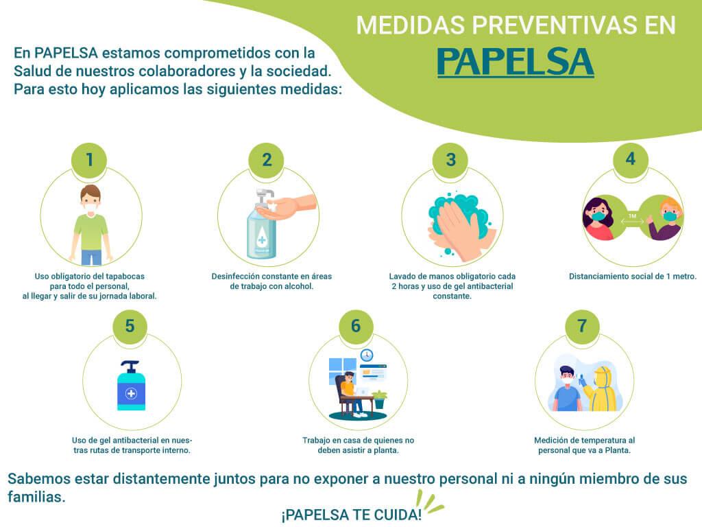 MEDIDAS PREVENTIVAS FRENTE AL COVID-19 EN PAPELSA