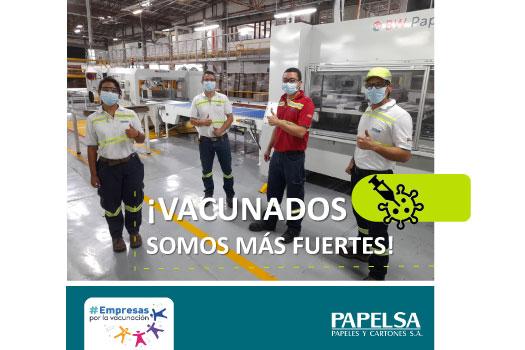 PAPELSA VACUNA A SU GENTE CONTRA EL COVID-19